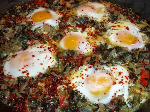 Mangold mit Eier - Yumurtalı Pazı