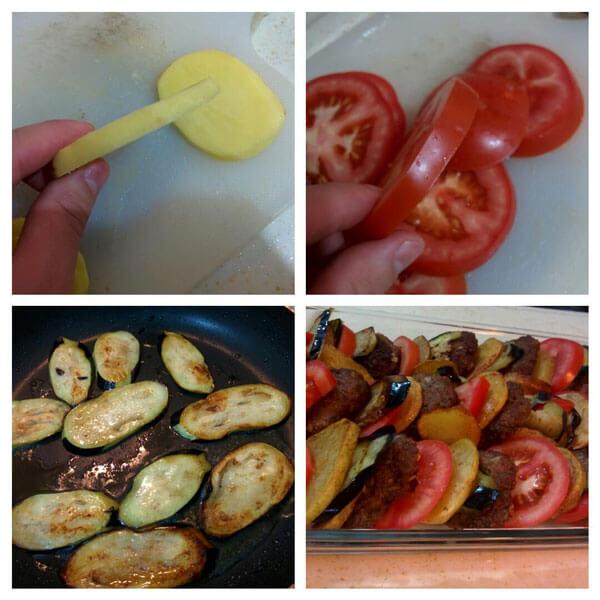 Frikadellen mit Gemüse - Sebzeli Fırın Köfte