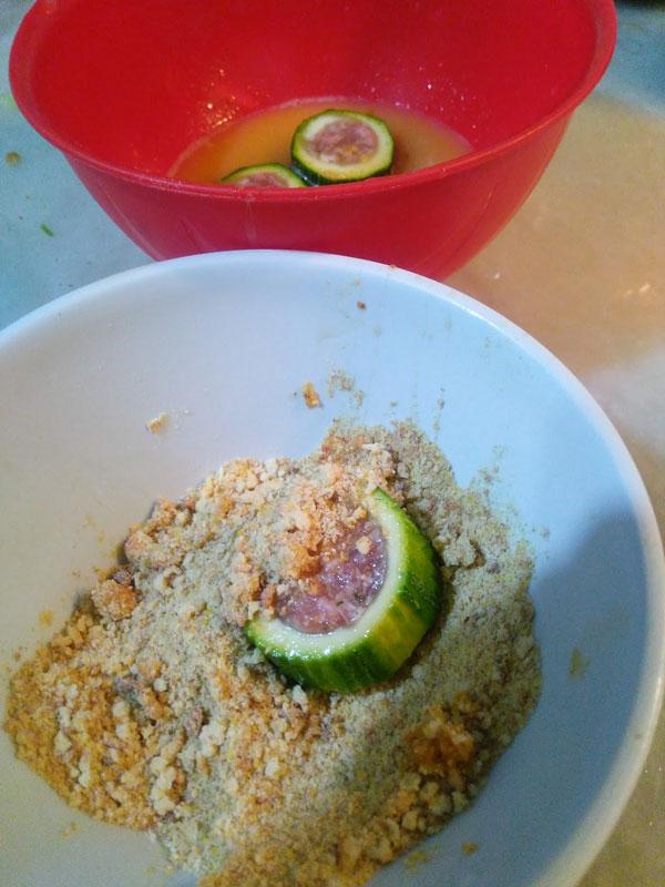 Zucchini Ringe mit Gouda - Kaşarlı Kabak Halkalar