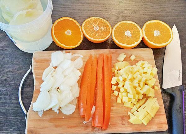 Artischocken mit Orangen - Portakallı Enginar