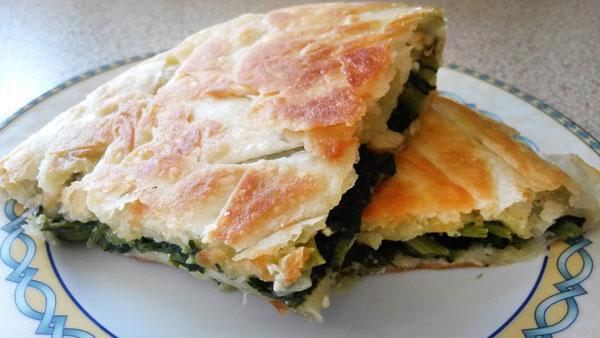 Börek aus der Pfanne - Ispanaklı Tava Böreği