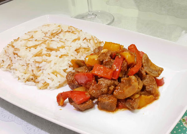 Fleisch Saute mit Champignons - Mantarlı Et Sote