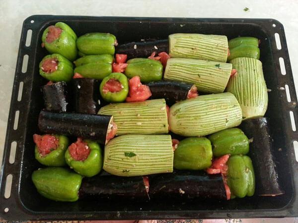 Gefüllte Gemüsen - Karışık Dolma