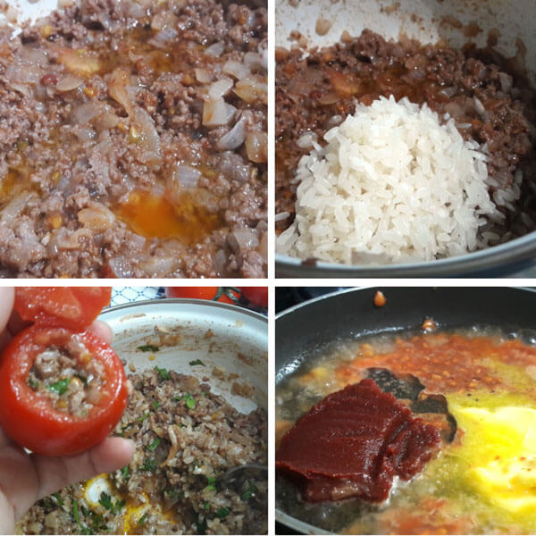 Gefüllte Tomaten mit Hackfleisch - Kıymalı Domates Dolması