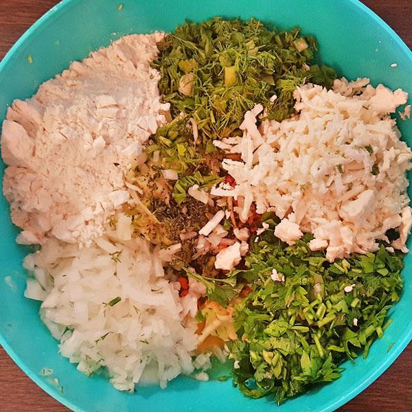 Gemüsepuffer mit Knoblauch - Sarımsaklı Mücver
