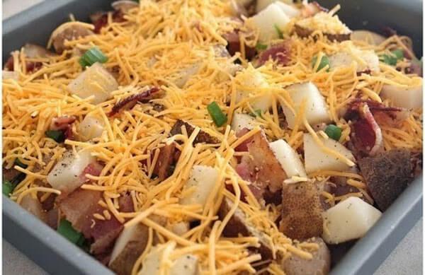 Kartoffel mit Hähnchen - Tavuklu Patates