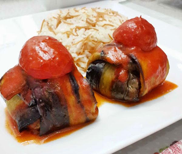 Kebab mit Auberginen - Kürdan Kebabı