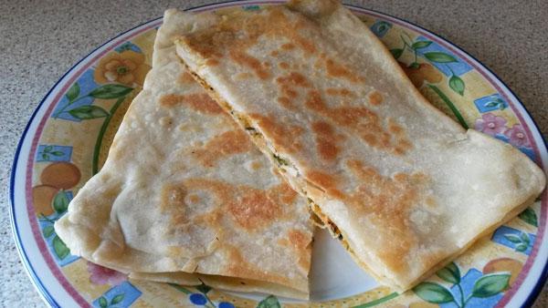Türkische Pfannkuchen - Karışık Gözleme