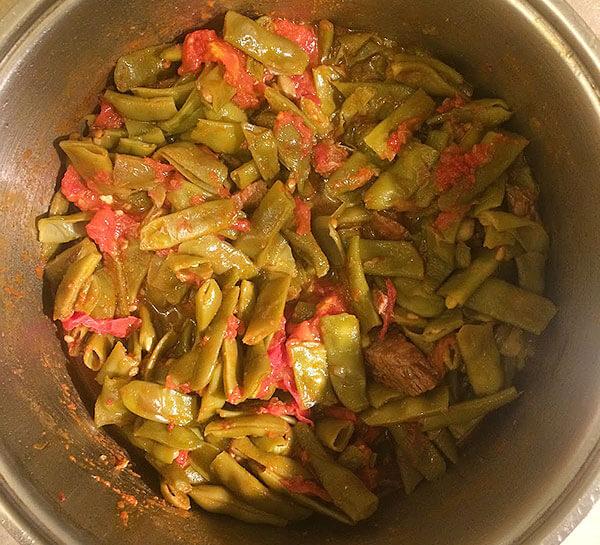 Grüne Bohnen mit Fleisch - Etli Taze Fasulye