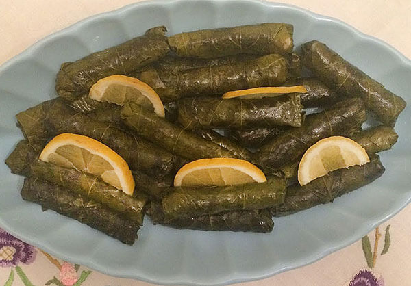 Gefüllte Weinblätter mit Olivenöl - Zeytinyağlı Sarma