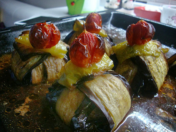 Auberginenpäckchen mit Hack - Kürdan Kebabı