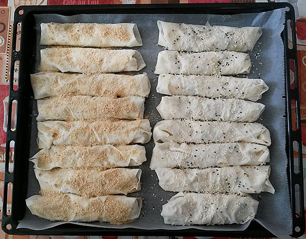 Börek mit Hähnchen und Gemüse - Tavuklu Sebzeli Börek