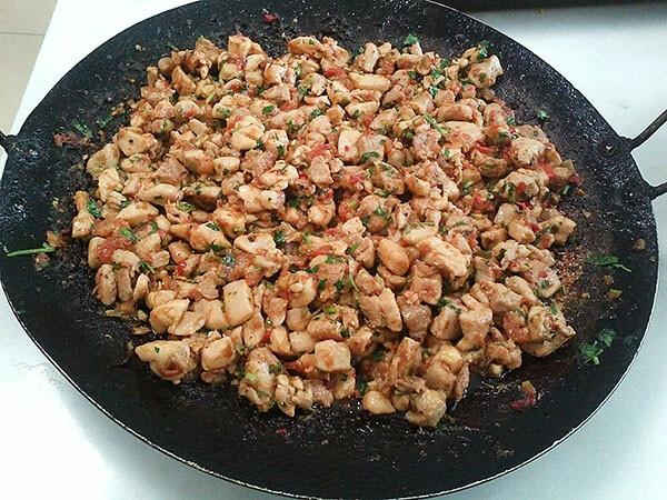 Hähnchenpfanne - Tavuklu Saç Kavurma