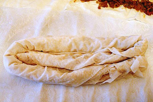 Börek mit Porree - Kıymalı Pırasalı Börek