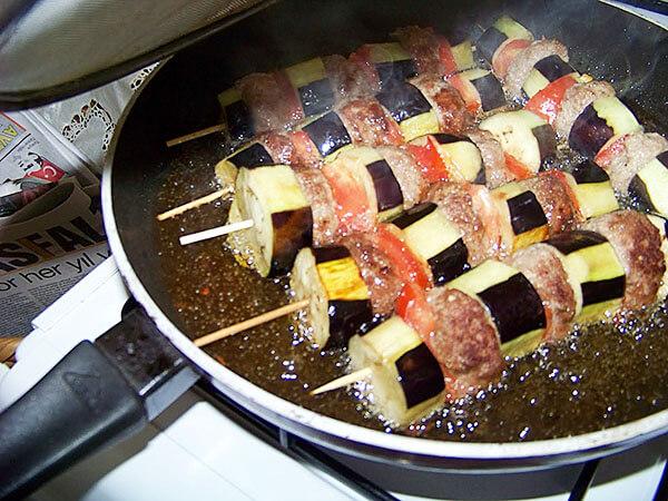 Kebabspieße mit Auberginen - Patlıcanlı Şiş Kebab