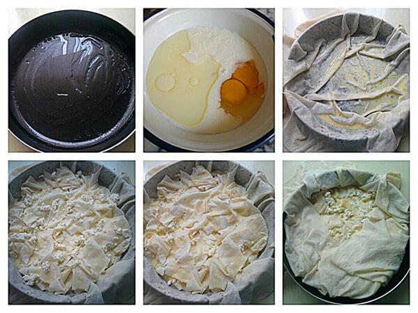 Börek aus der Pfanne mit Käse - Peynirli Tava Böreği