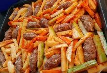 Photo of Köfte mit Gemüse aus dem Ofen