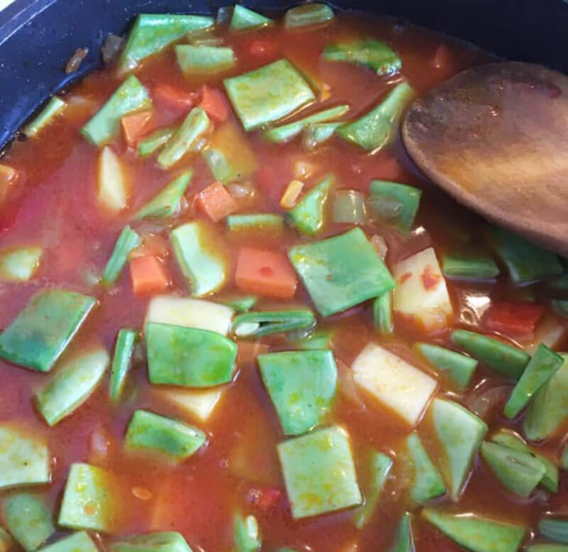 Grüne Bohnen mit Gemüse