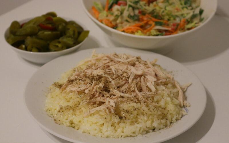 Reis mit Hühnchen – Tavuk Pilav Rezept